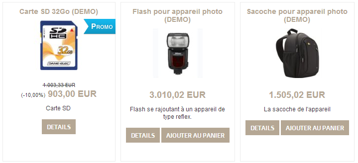 Promox sur le catalogue